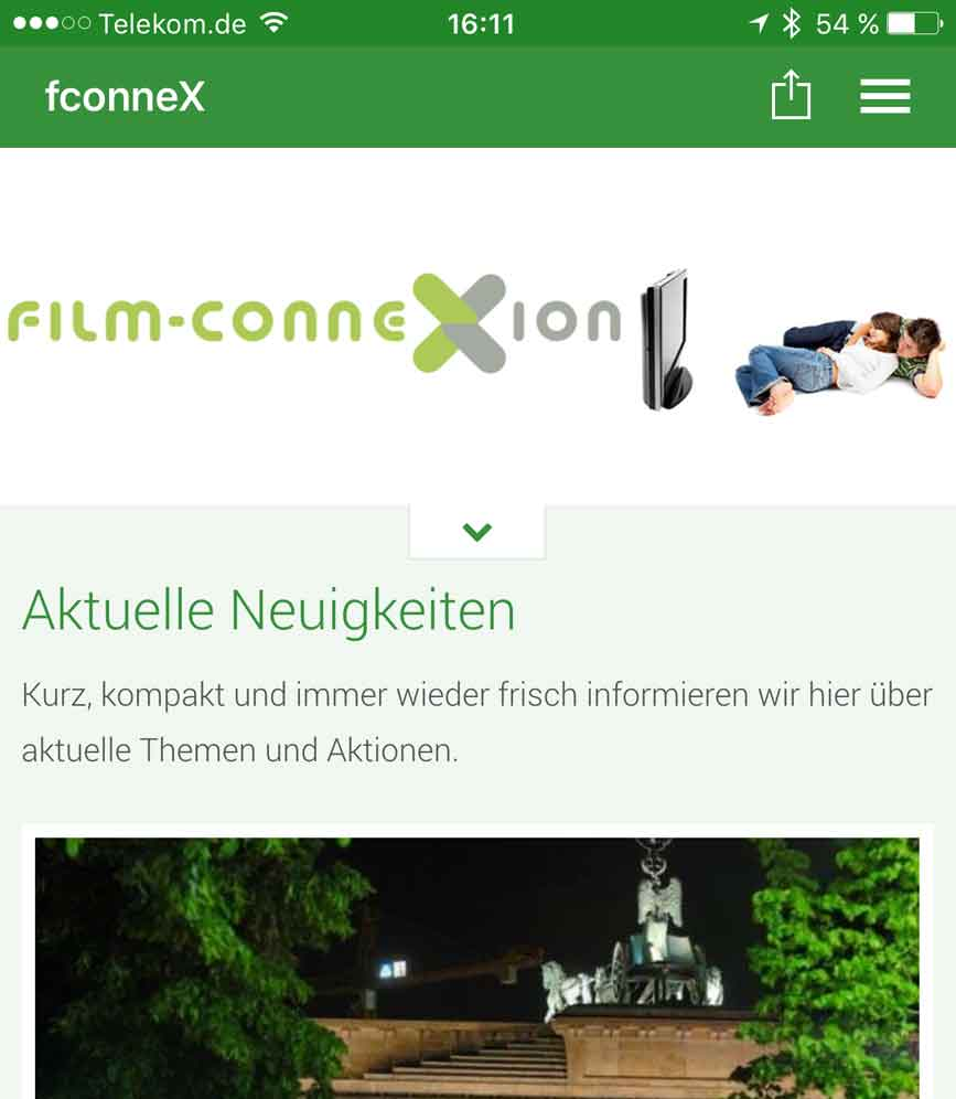 film-connexion launcht Smartphone App
